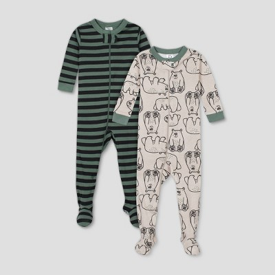 Gerber Baby Boys' 2pk Bear Union Suit - Gray 9M