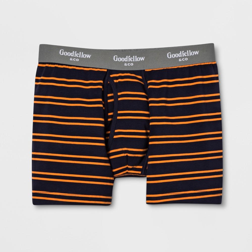 cc909960c85fb Mens Striped Knit Boxer Briefs Goodfellow Co NavyOrange M