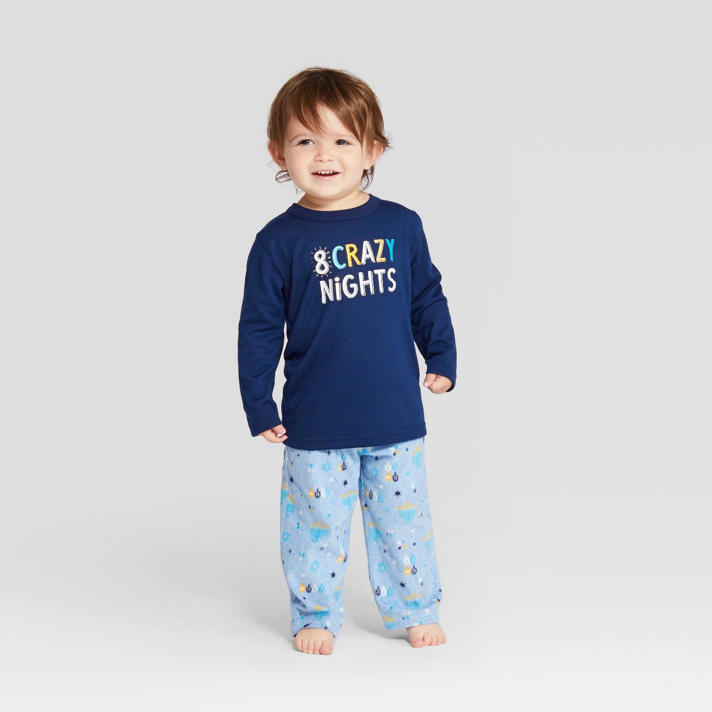 Toddler Hanukkah Pajama Set - Wondershop™ Blue - image 1 of 3
