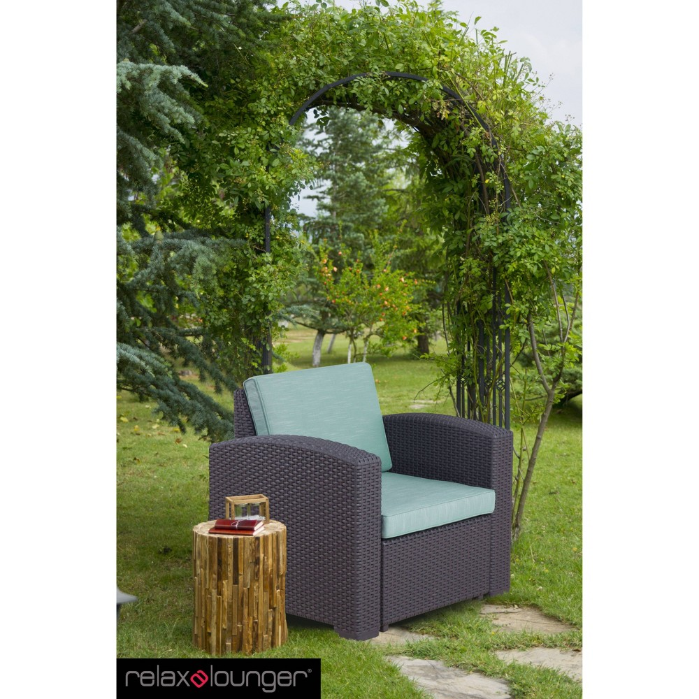 Image of Palm Bay Outdoor Accent Chair Teal - Relax-A-Lounger