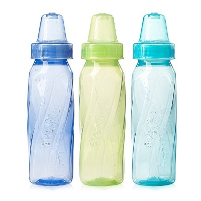 Evenflo Feeding Classic Tinted BPA Free Plastic Baby Bottles - 8oz /12ct