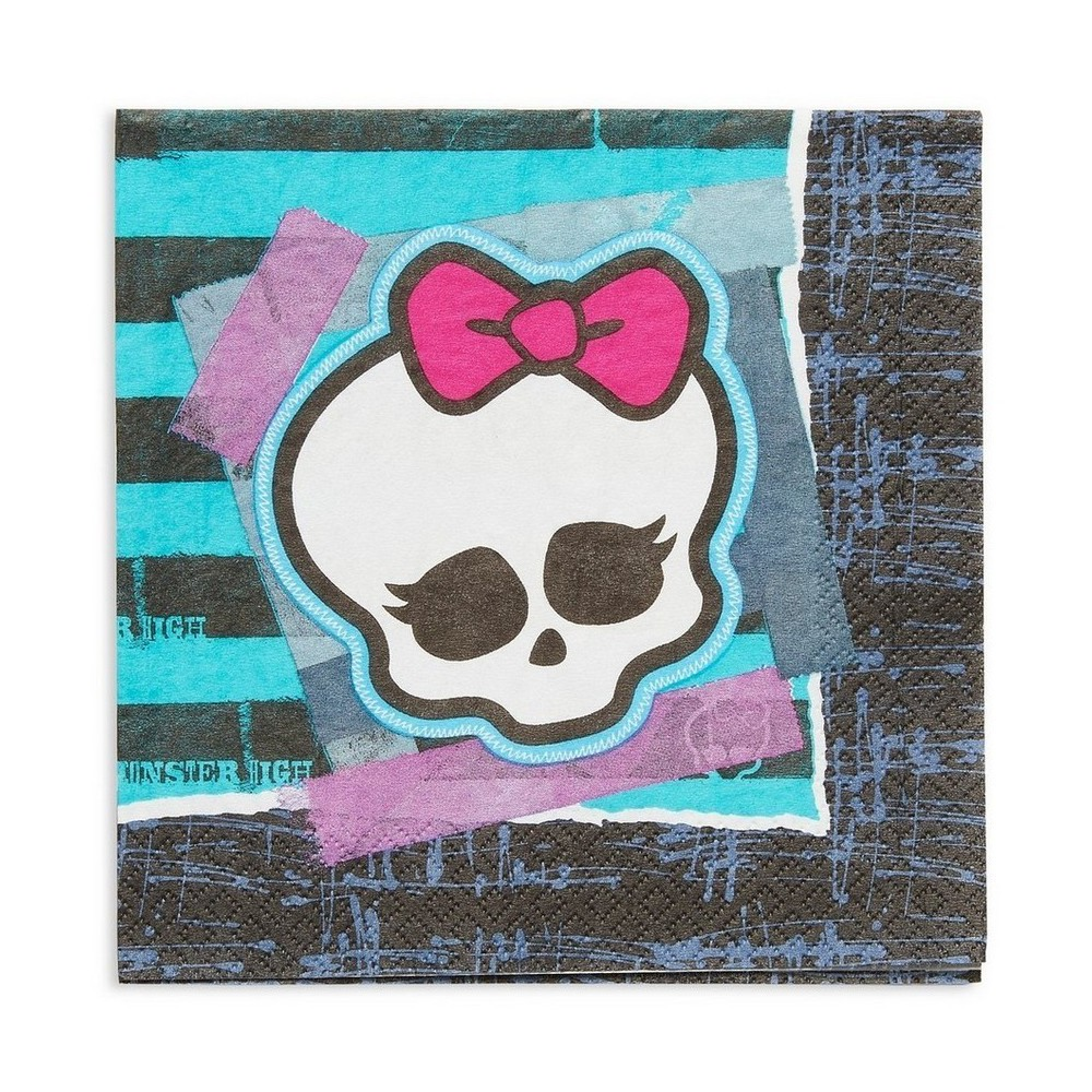 Monster High Disposable Napkins - 16ct, Multi-Colored