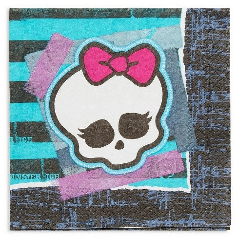 Monster High Disposable Napkins - 16ct - image 1 of 3