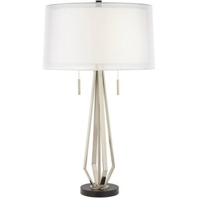 Possini Euro Design Conner Double Shade Modern Pull Chain Table Lamp