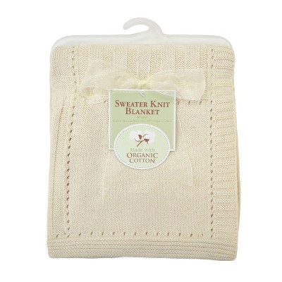 TL Care Organic Cotton Sweater Knit Swaddle Blanket - Natural