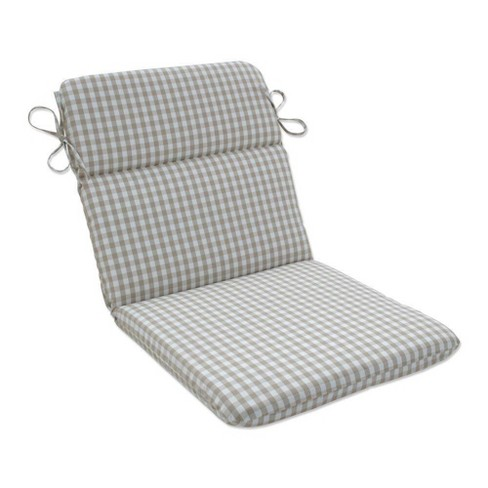 Outdoor/Indoor Rounded Chair Pad Dawson Birch Tan - Pillow Perfect - image 1 of 1