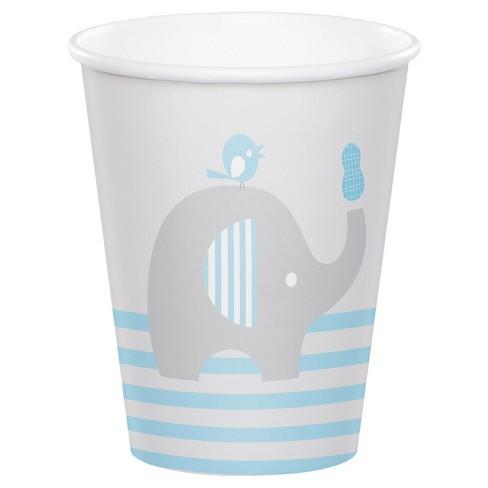 8ct Little Peanut Boy Elephant Cups, Blue - image 1 of 1