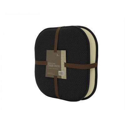 GoodGram 2 Pack: Ultra Comfort Memory Foam Non-Slip Chair Pads/Cushions