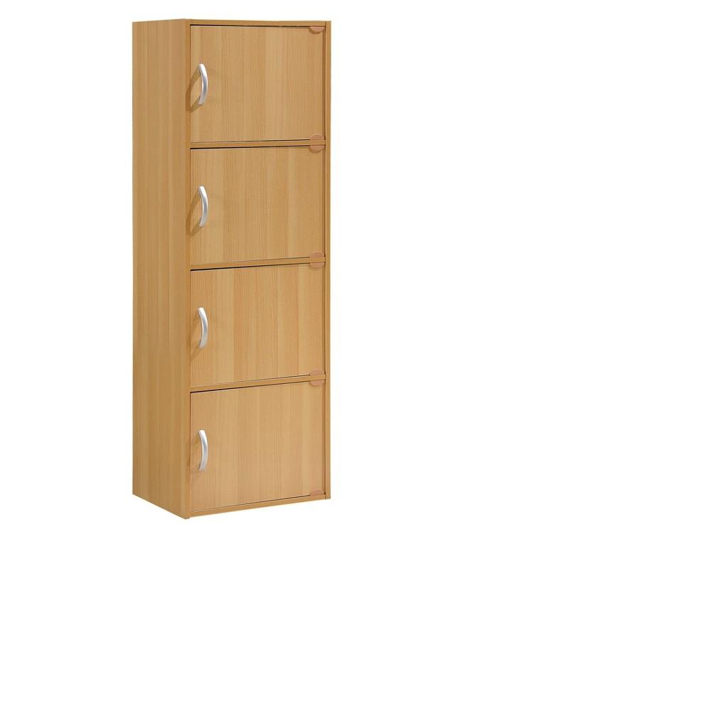 Image of Hodedah Import Storage Cabinet - Neutral