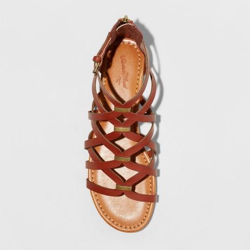 9e4b9ae67ad Women s Kerri Gladiator Sandals - Universal Thread™ Cognac 8.5   Target
