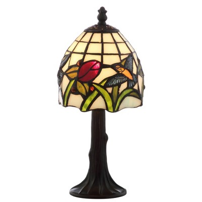 "12"" Hummingbird Tiffany Style Table Lamp (Includes LED Light Bulb) Bronze - JONATHAN Y"
