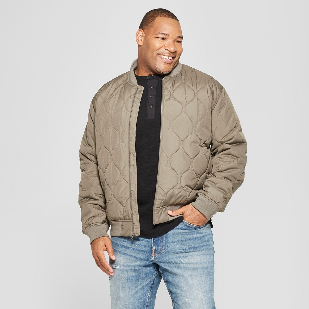 Men's Tall Fused Onion Bomber Jacket - Goodfellow & Co Sage Brown Xlt
