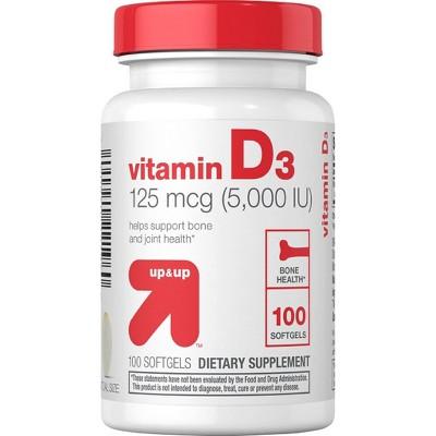 Vitamin D3 125mcg Softgels - 100ct - up & up™