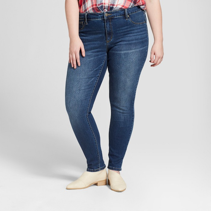 Women's Plus Size Jeggings - Universal Thread™ Dark Wash - image 1 of 3