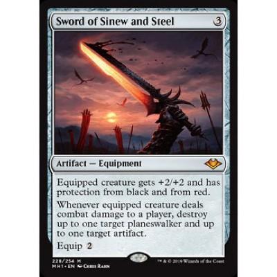 SWORD OF SINEW AND STEEL Modern Horizons Magic MTG MINT CARD
