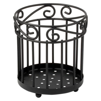 Scroll Grande Utensil Holder - Black