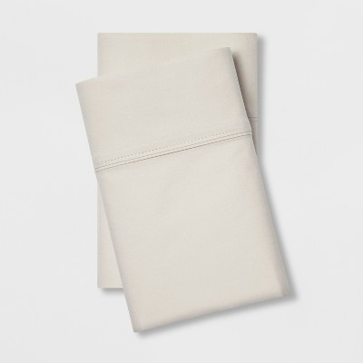 Standard 300 Thread Count Ultra Soft Pillowcase Set Beige - Threshold™