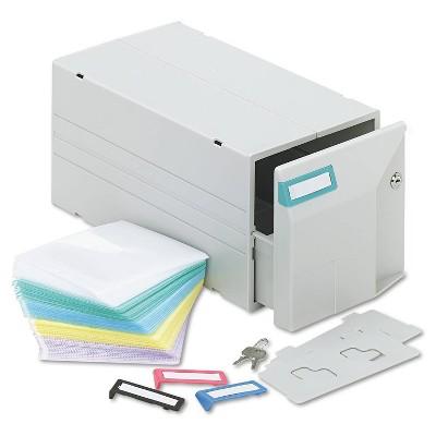 Innovera Locking CD/DVD Storage Drawer - Holds 150 Discs