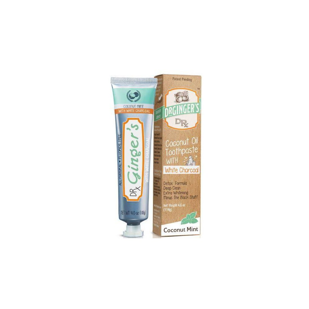 Image of Dr. Ginger Activated White Charcoal Toothpaste - 4oz
