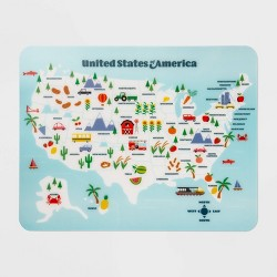 "18"" x 14"" Plastic Map Placemat - Pillowfort™"