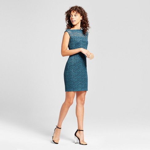 Women's Lace Sheath Dress - Necessary Objects® Blue - image 1 of 2