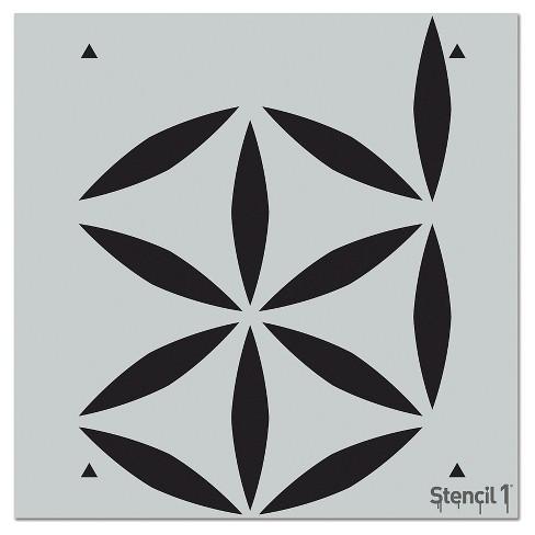 "Stencil1 Moroccan Petal Repeating - Wall Stencil 11"" x 11"" - image 1 of 3"