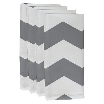 Gray Geometric Throw Napkin Set (19 X19 )- E By Design