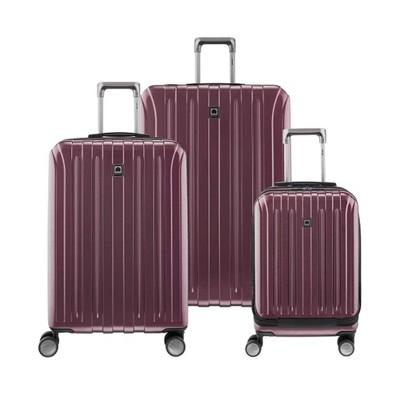 DELSEY Paris Titanium 3pc Luggage Set - Purple