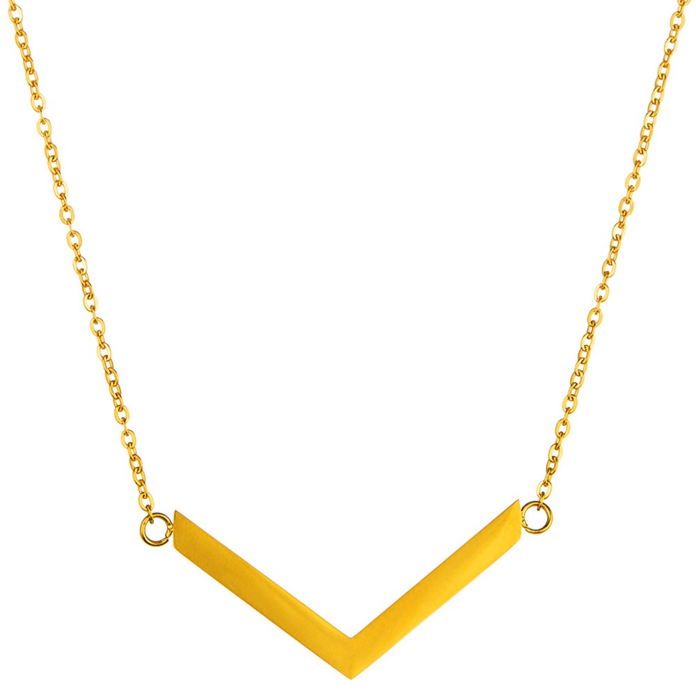 "Image of ""ELYA Chevron Chain Necklace - Gold (18""""), Women's"""