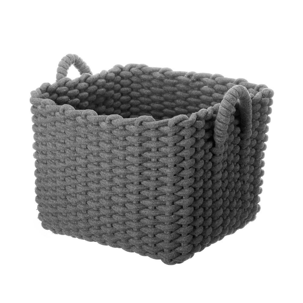 Coiled Rope Storage Bin Cloud Island 8482 Gray