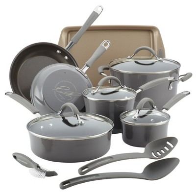 Rachael Ray 14pc Cucina Porcelain Set Gray