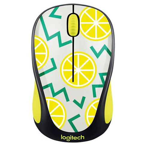 Logitech M317 Wireless Lemon Mouse - Black (910-004811) - image 1 of 2