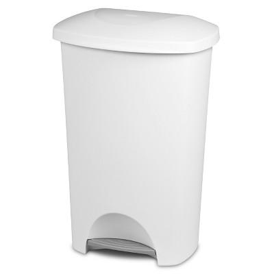Sterilite® 44 Qt./11 Gal. Step-On Wastebasket - White