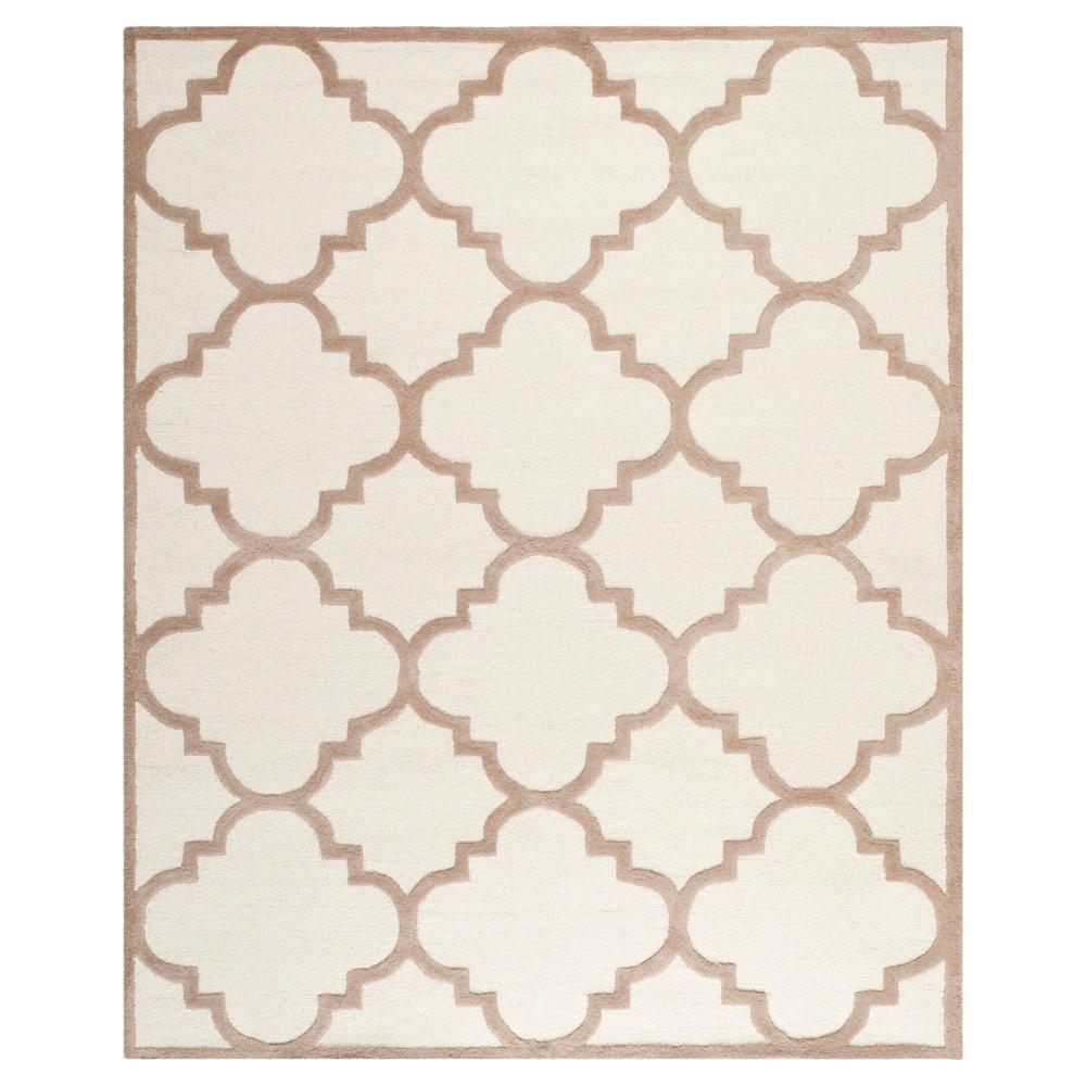 Landon Texture Wool Rug - Ivory / Beige (9' X 12') - Safavieh, Ivory/Beige