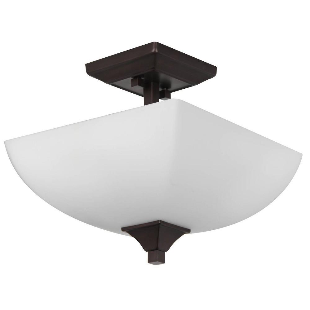Image of Starling Three Light Semi Flush Bronze - Sunset Lighting
