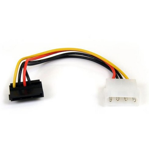 """6/"""" Molex 4 Pin Power to 15 pin SATA Female Adapter Cable"""
