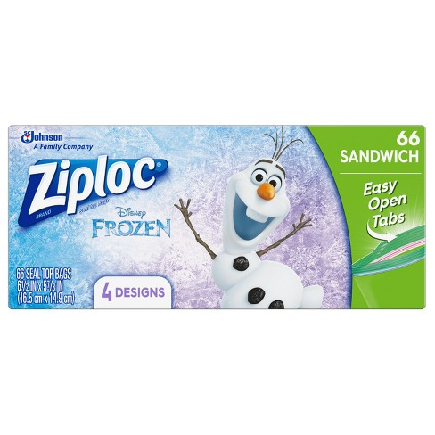Ziploc Disney Frozen Easy Open Food Storage Bags - 66ct - image 1 of 5
