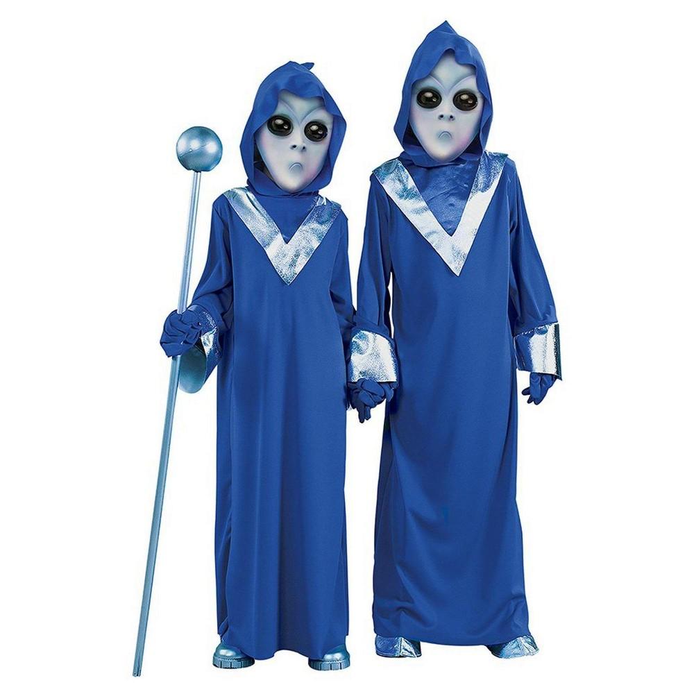 Kids' Alien Costume - Small (4-6), Kids Unisex, Size: S(4-6), Silver