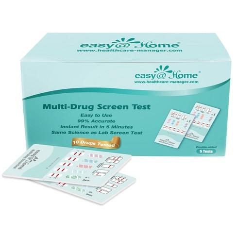 Easy@Home 10 Panel Instant Drug Test Kit – 5pk - image 1 of 3
