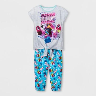 Girls' LEGO Movie 2 2pc Pajama Set - Gray