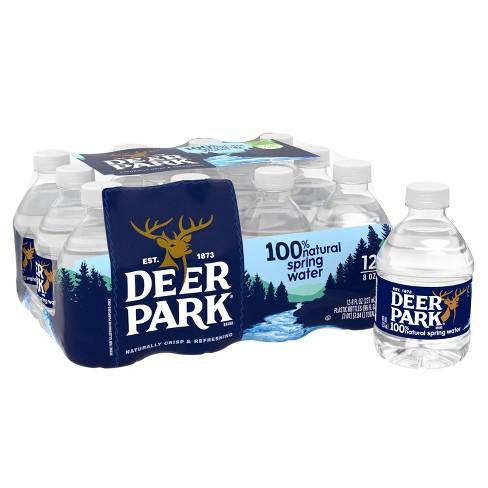 Deer Park Brand 100% Natural Spring Water - 12pk/8 fl oz Mini Bottles - image 1 of 4