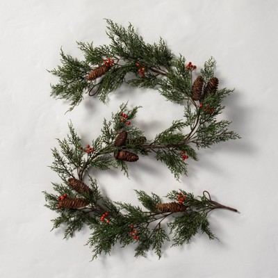 6' Faux Red Berries with Pinecones Garland - Hearth & Hand™ with Magnolia