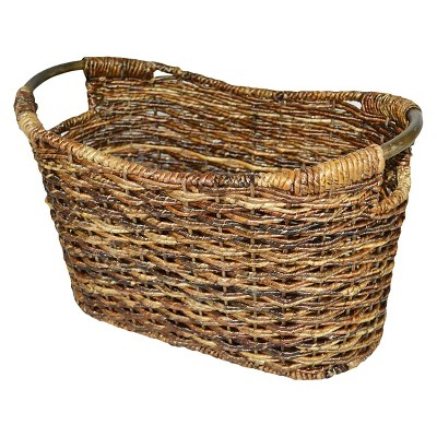 Wicker Magazine Storage Basket - Dark Global Brown - Threshold™