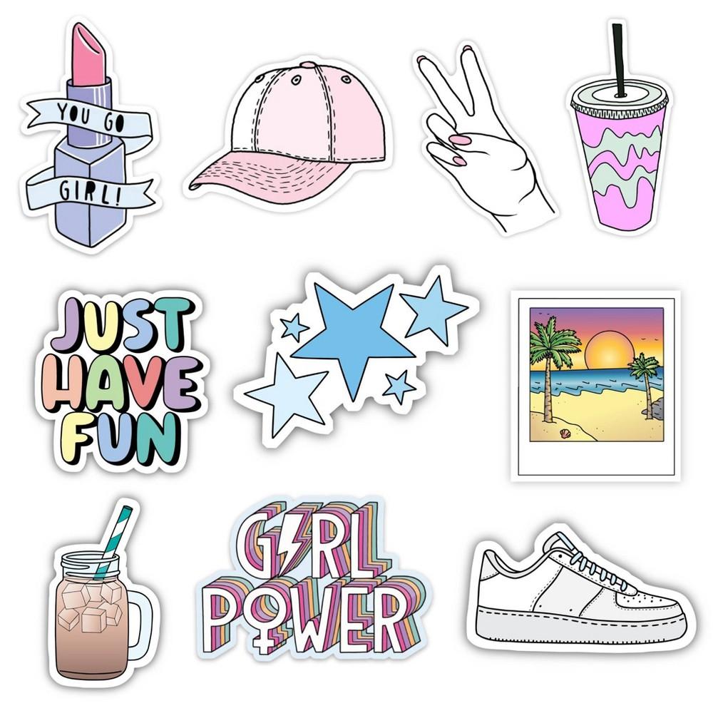 Big Moods Girl Power Vsco Aesthetic Sticker Pack 10pc