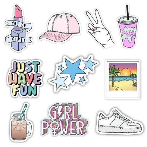 Big Moods Girl Power Vsco Aesthetic Sticker Pack 10pc Target