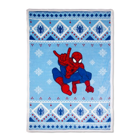 Marvel Spider-Man Blue Bed Blankets (Full/Queen) - image 1 of 2