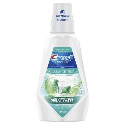 Crest 3D White Brilliance Blast Mouthwash - 1L