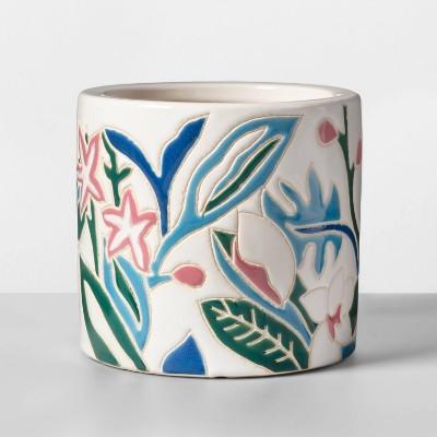 Small Floral Planter White - Opalhouse™
