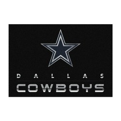 NFL Dallas Cowboys 6'x8' Chrome Rug