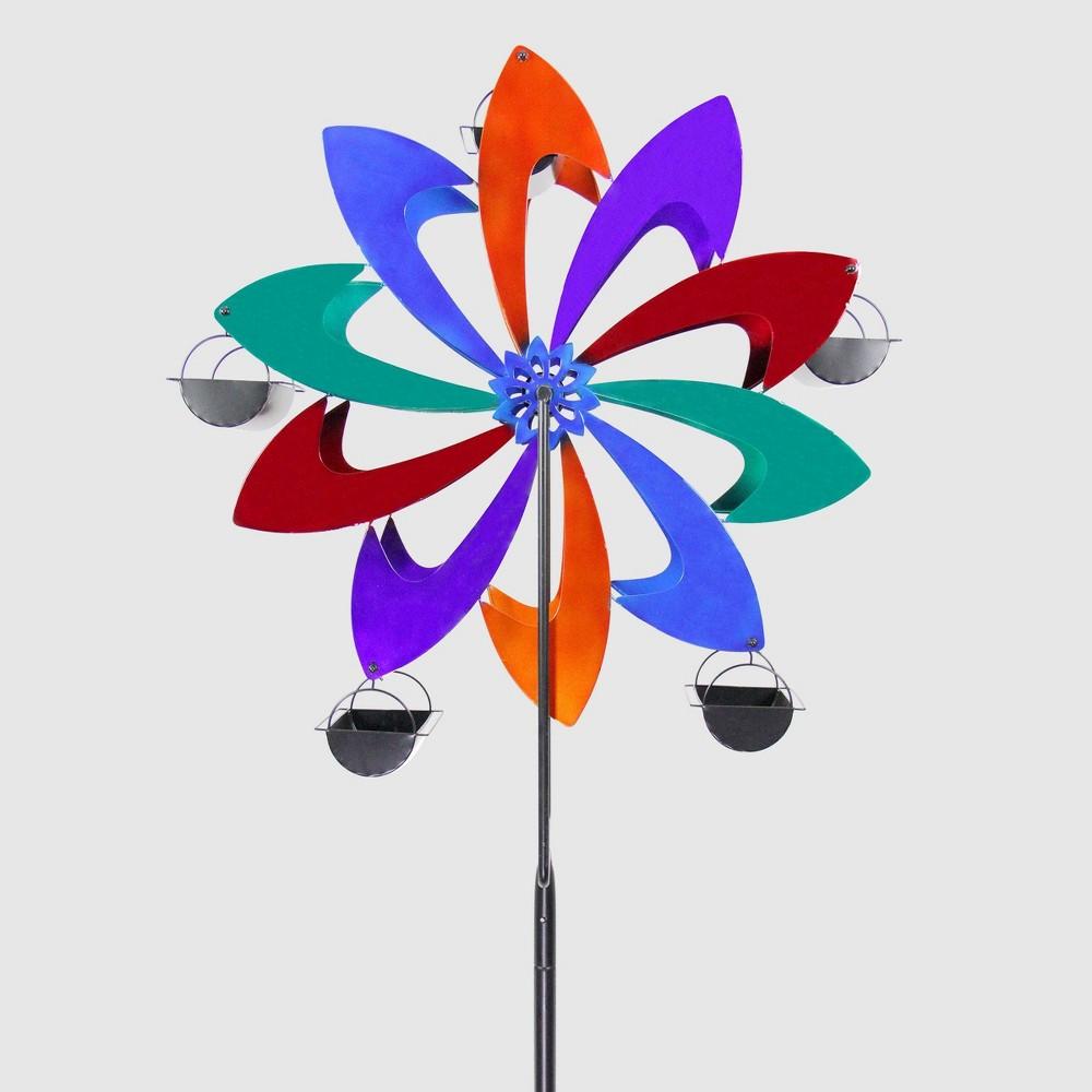 95 Resin Ferris Feeder Pinwheel - Exhart, Multi-Colored